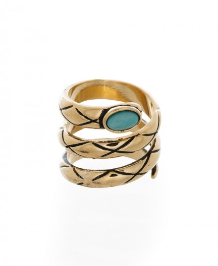Melody Ehsani-Spiral Turquoise Ring-AED140 at SIVVI.COM
