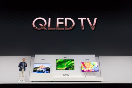 Jonghee Han President of Visual Display Business at Samsung Electronics introducing the new 2018 QLED TVs(1)